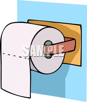 royalty free clipart image toilet tissue on a plastic dispenser rh clipartguide com toilet paper mummy clipart toilet paper clipart black and white