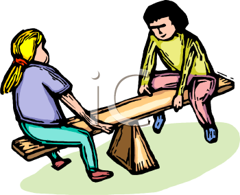 Girls on a Teeter Totter