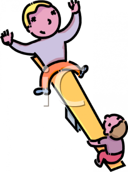 Two Boys on a Teeter Totter