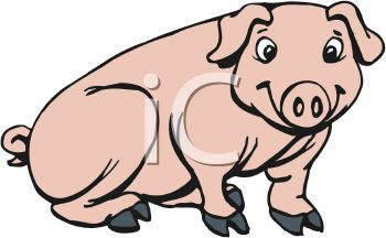 Cute, Young Pig - Royalty Free Clip Art Picture