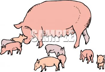 mama pig with her babies royalty free clipart picture rh clipartguide com free clipart of peppa pig free clipart of pigeons