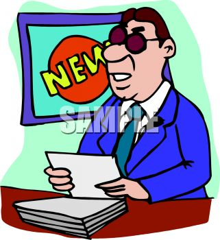 royalty free clipart image news anchorman doing his report rh clipartguide com record clipart images reporter clipart