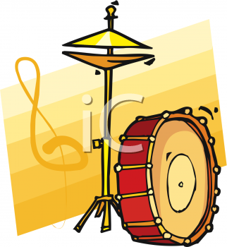 Bass Drum and Free Standing Cymbals