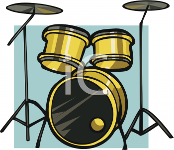 Royalty Free Clip Art Image: Drum Set