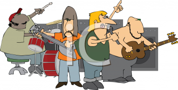 Cartoon of a Rock Group