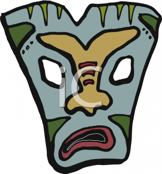 Angry Hawaiin Tiki Mask