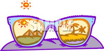 Sunglasses with Egyptian Scenes in the Lenses