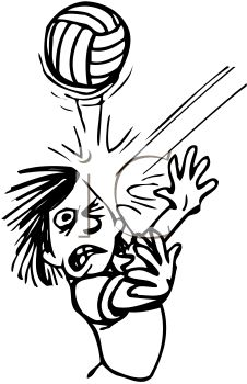 Black and White Cartoon of a Kid Getting Hit in the Face with a ...
