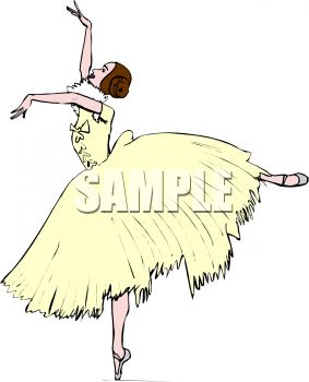 Prima Ballerina Wearing a Pale Yellow Costume