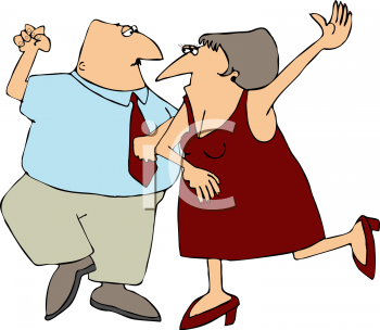 Elderly Couple Dancing on a Valentine's Date