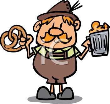 german man with a pretzel and a beer royalty free clip art picture rh clipartguide com free oktoberfest clipart german free oktoberfest clipart