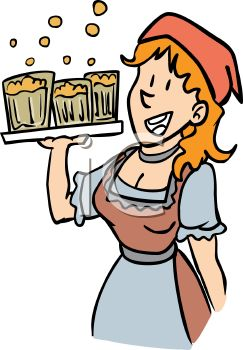 German Tavern Maid - Royalty Free Clip Art Picture