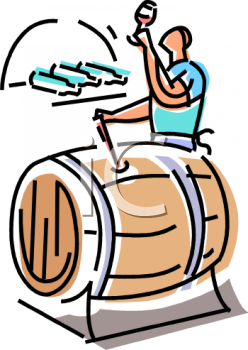 Wine Tester Taking a Sample from a Barrel