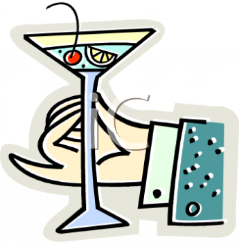 Hand Holding a Martini Glass
