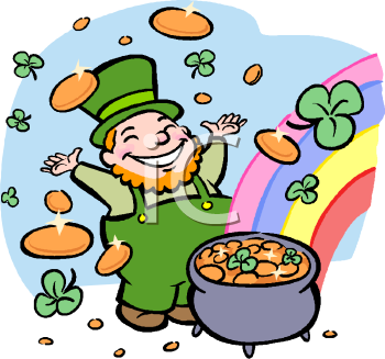 Lucky Leprechaun with a Pot of Gold