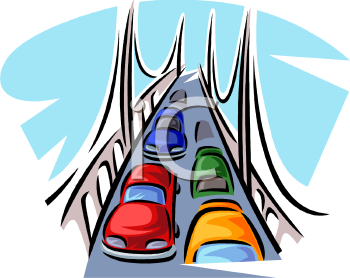 cars driving over a bridge royalty free clip art image rh clipartguide com clipart bride and groom clip art bridge drawings