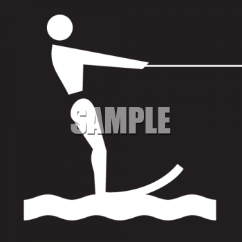 Outdoor Recreation Icons-Water Skiing Area