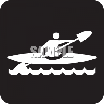 Outdoor Recreation Icons-Kayaking Area