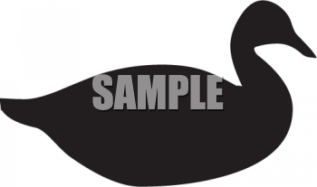 Animal Silhouette-Duck