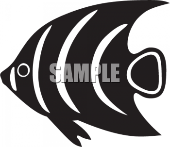 Animal Silhouette-Tropical Fish - Royalty Free Clip Art Illustration