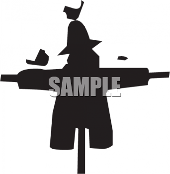 Silhouette of a Scarecrow