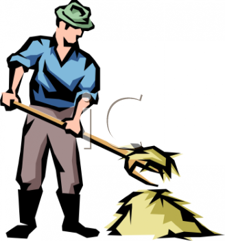 farmer using a pitchfork to move hay royalty free clip art picture rh clipartguide com farmer clipart vector farmer clipart outline