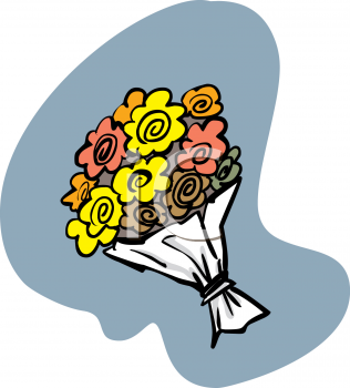 Bouquet of spring flowers royalty free clip art illustration mightylinksfo