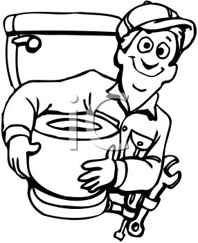 Plumber Holding a New Toilet