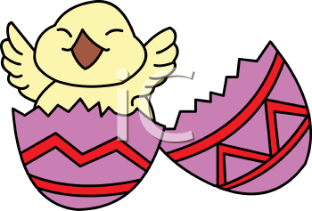 Royalty Free Clip Art Image: Chick Happy to Be Born