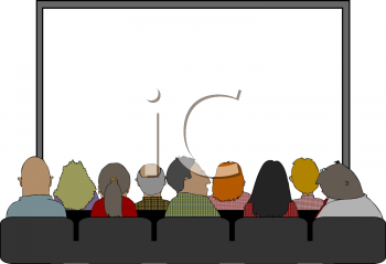 Royalty Free Clipart Image: People in a Theater Waiting for the ...