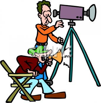 director and cameraman royalty free clipart image rh clipartguide com directory clip art film director clipart