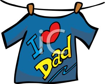 I Love Dad Tee Shirt Hanging on a Clothesline