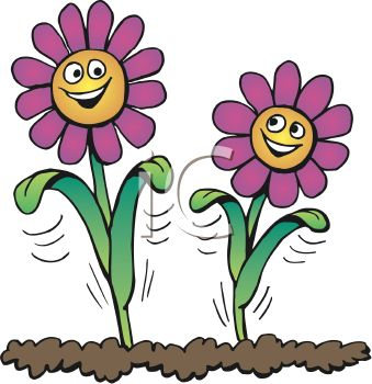 royalty free clipart image smiling flowers growing in soil rh clipartguide com soil clipart black and white soil profile clipart