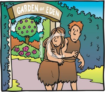 Adam and Eve, Clothed, Leaving the Garden of Eden in Shame