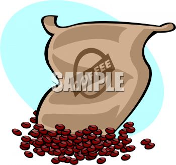 Spilled Sack of Coffee Beans