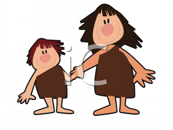 royalty free clipart image cave woman and her daughter rh clipartguide com cave clipart free clipart cave à vin
