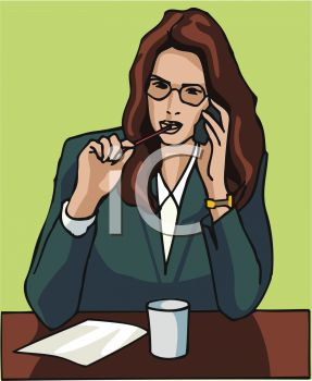 Beautiful Business Woman on Phone