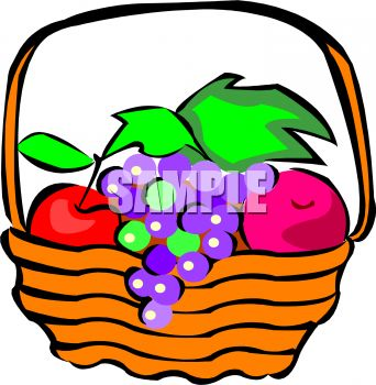 fruit basket royalty free clip art illustration rh clipartguide com fruit bouquet clipart fruit basket clipart black and white