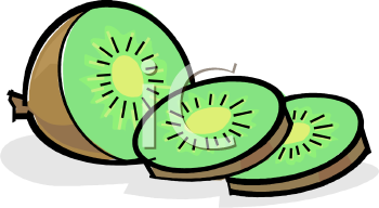 Sliced Kiwi Fruit - Royalty Free Clip Art Image