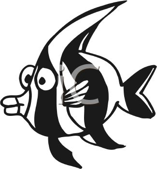 black and white cartoon angel fish royalty free clip art image rh clipartguide com  angelfish clipart black and white