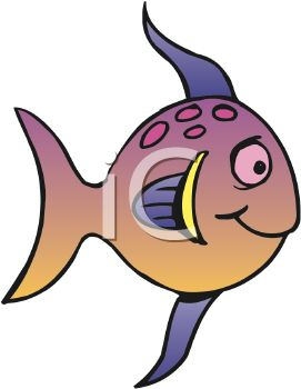 Cute Cartoon Fish - Royalty Free Clipart Picture