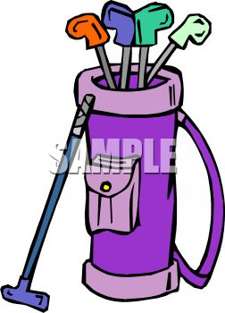 royalty free clipart image set of golf clubs rh clipartguide com free golf bag clipart