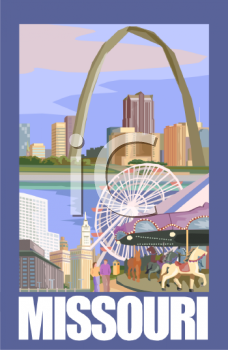 Tourist Attractions of Missouri Poster