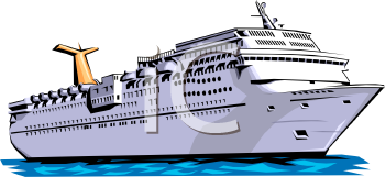 Ocean Liner-Cruise Ship - Royalty Free Clipart Image