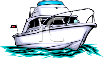 cabin cruiser pleasure boat royalty free clip art image rh clipartguide com ship clipart free ship clipart free