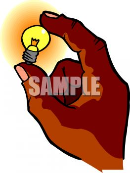 Hand Holding a Nightlight Bulb