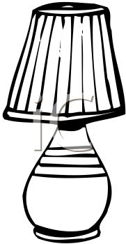 Black And White Table Lamp With A Pleated Shade Royalty Free