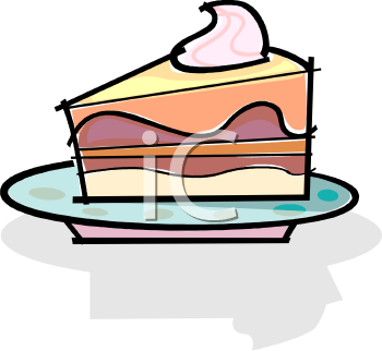 Slice of Layer Cake with Filling