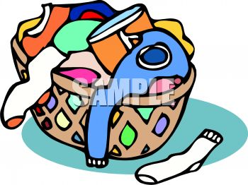 royalty free clipart image basket of laundry rh clipartguide com laundry basket clipart black and white