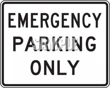 American Road Signs-Emergency Parking Only